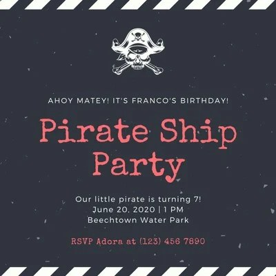free pirate party invitations templates