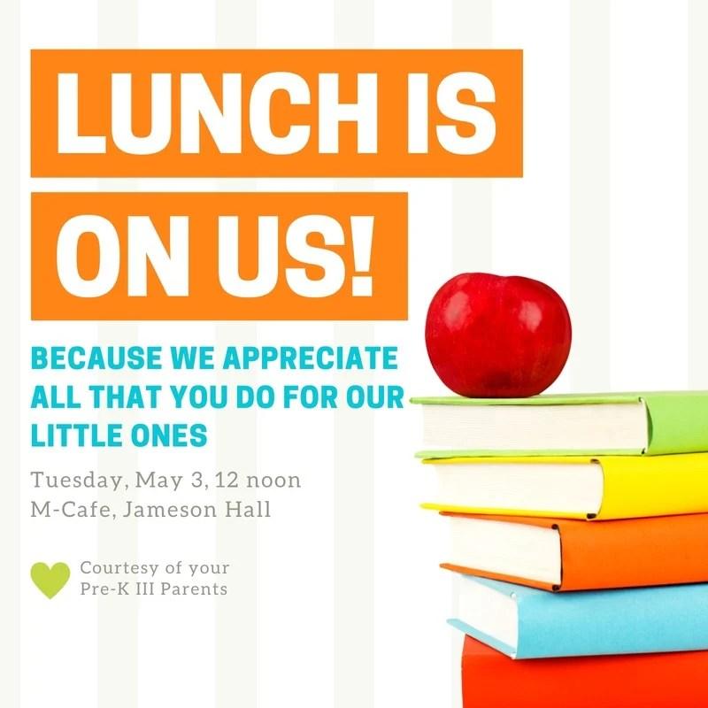 Lunch Books Teacher Appreciation Invitation Templates By Canva
