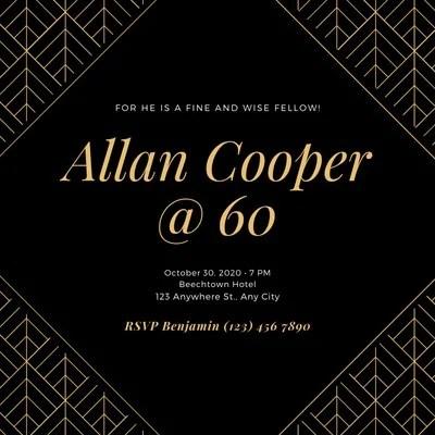 https www canva com invitations templates 60th birthday