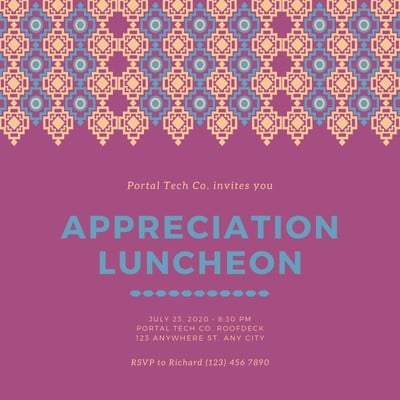 Customize 79 Luncheon Invitations Templates Online Canva