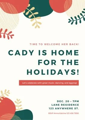 Holiday Christmas Poster Templates By Canva