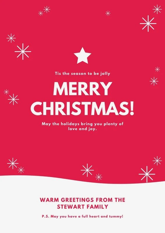 Christmas Holiday Poster Templates By Canva