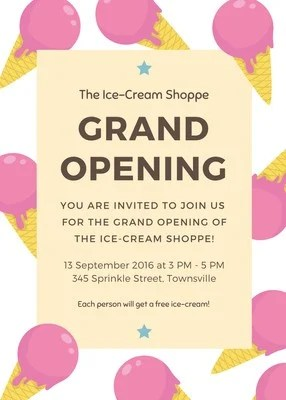 free grand opening flyers templates to