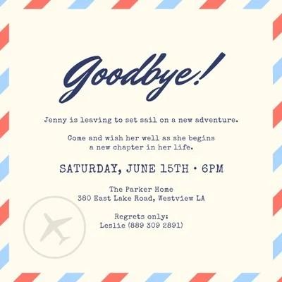 free custom printable farewell party