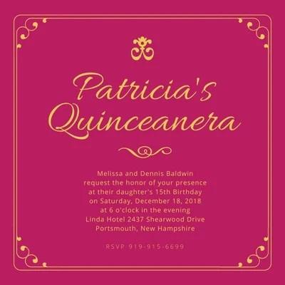 free quinceanera invitations templates