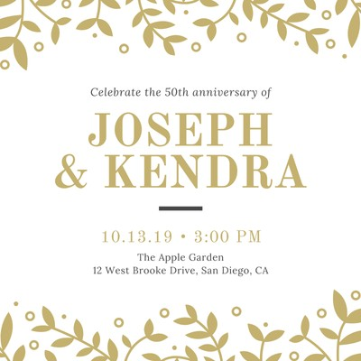 Customize 1 188 50th Anniversary Invitations Templates
