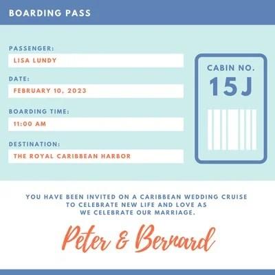 Customize 62 Boarding Pass Invitations Templates Online Canva