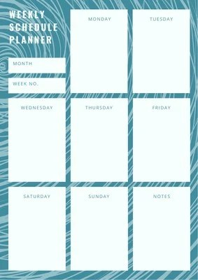 Customize 160 Weekly Schedule Planners Templates Online Canva