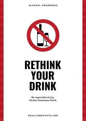 alcohol awareness poster templates