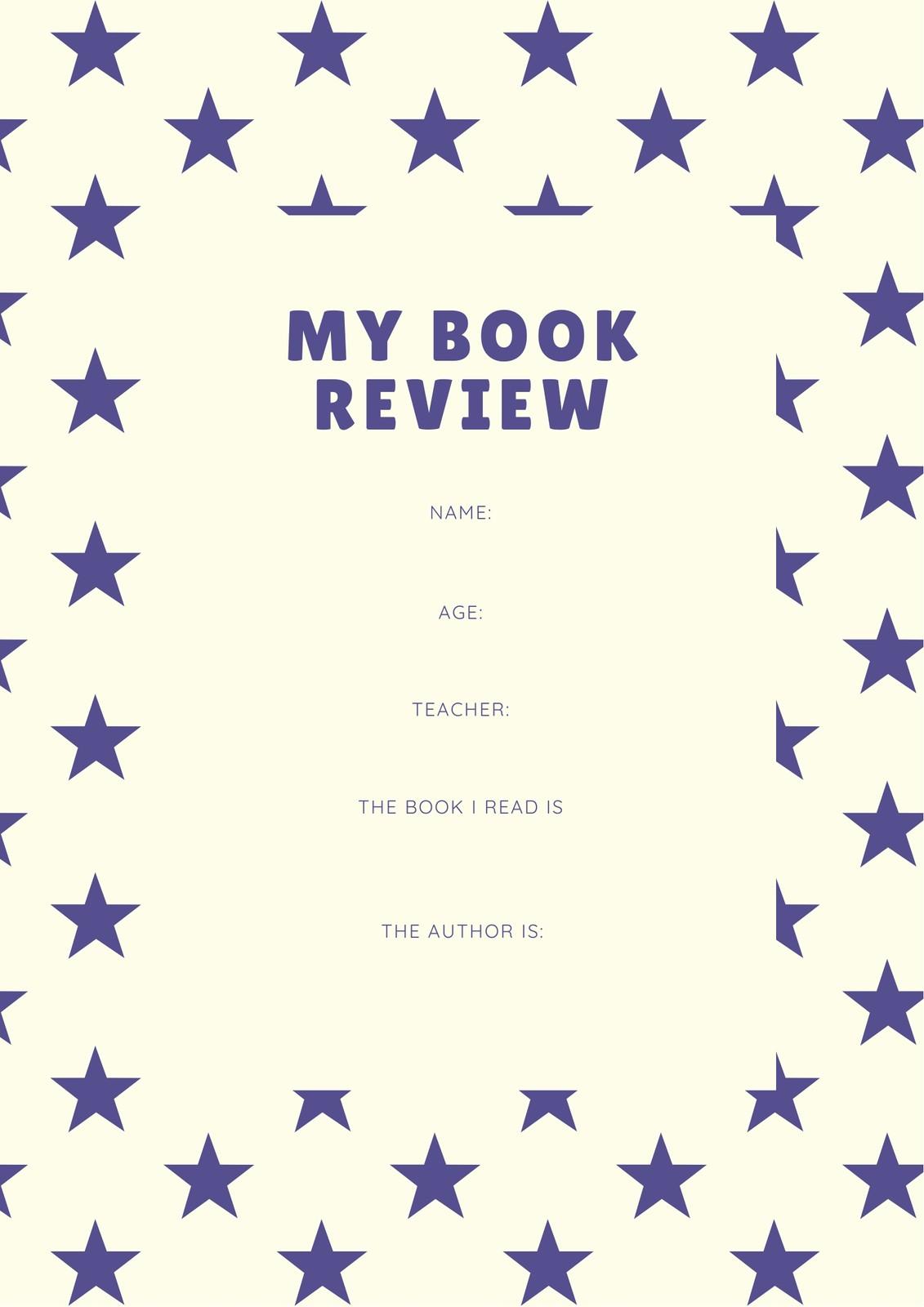 Purple Stars Pattern Preschool Book Review Worksheet