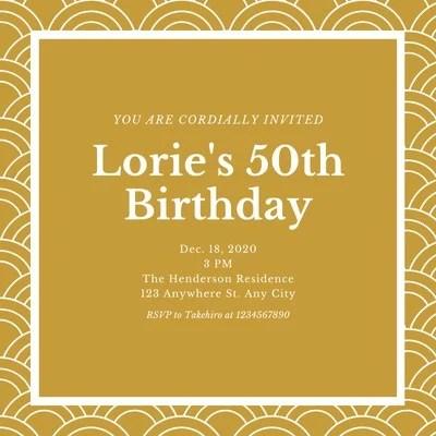 50th birthday invitation templates