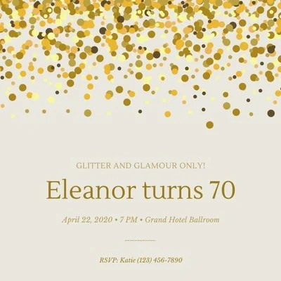 free 70th birthday invitations