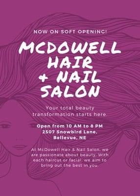 free hair salon flyers templates to