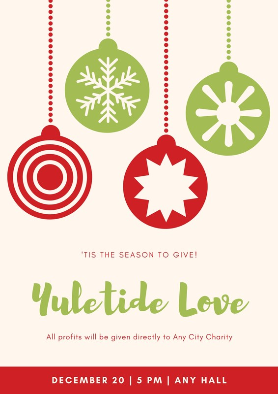 Red And Green Christmas Fundraising Poster Templates By Canva