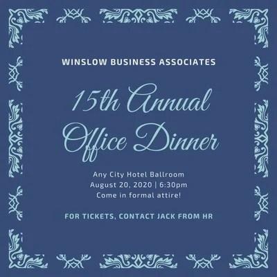 company event invitations templates