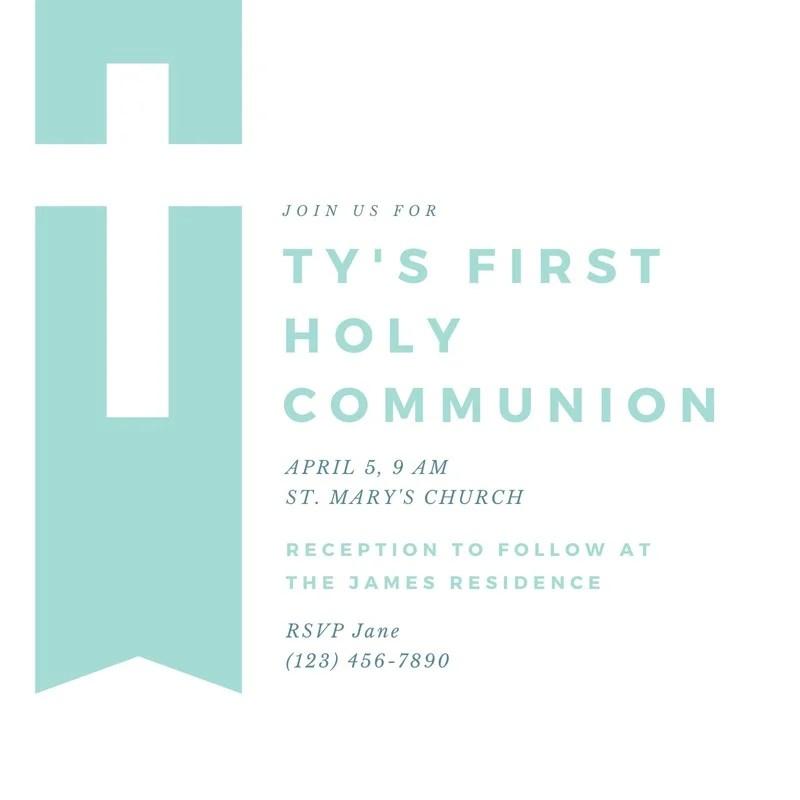 free custom printable first communion
