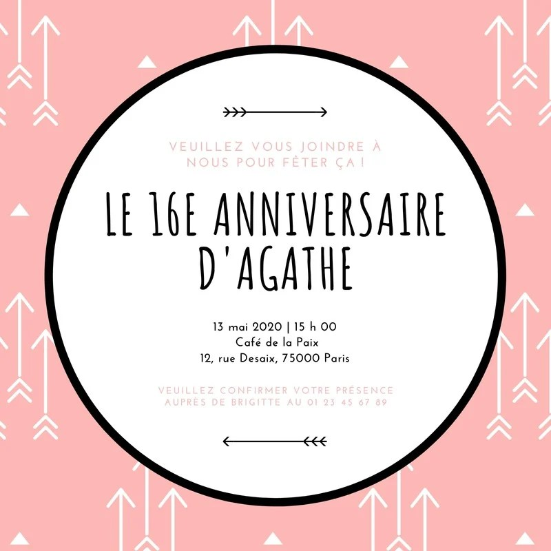 Textes Cartes D Invitations A L Anniversaire Des 18 Ans Canva