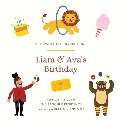 1st birthday invitation templates