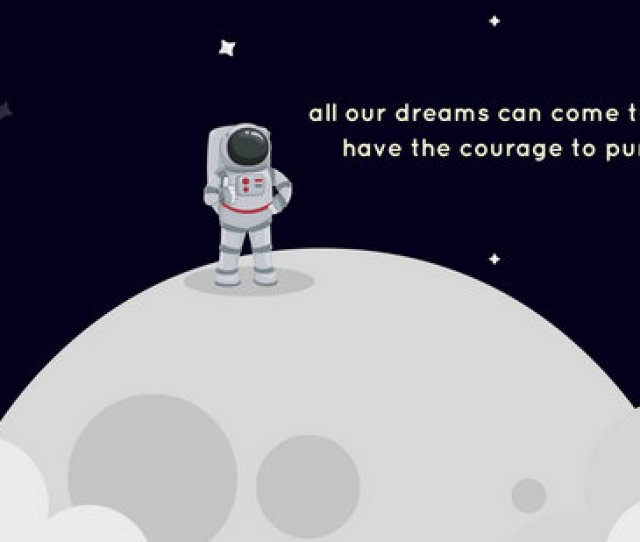 Dark Blue Astronaut Motivational Desktop Wallpaper