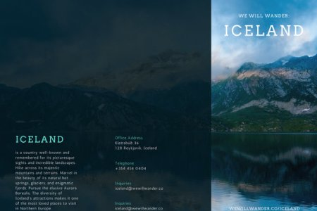 Customize 93  Travel Brochure templates online   Canva Iceland Travel Brochure