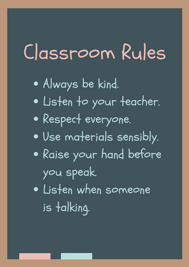 Classroom Rules Poster Templates By Canva