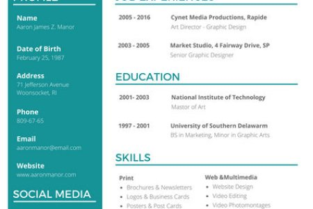 graphic designer resume sample » Free Professional Resume ...