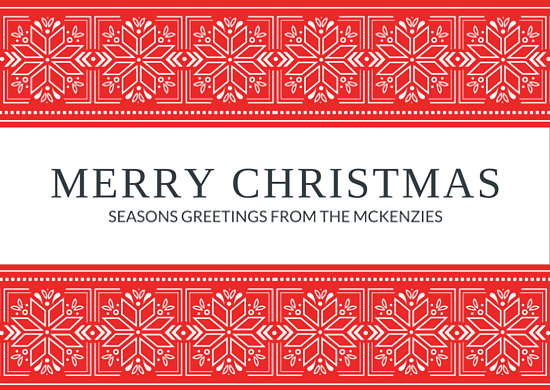 Merry Christmas Snowflake Family Postcard Templates By Canva