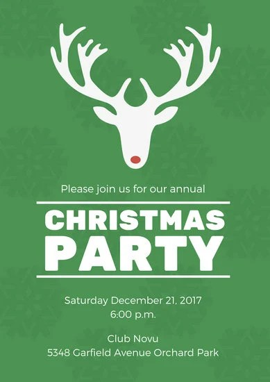 Christmas Party Poster Templates By Canva