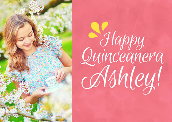 Happy Quinceanera Photo Greeting Card Templates By Canva