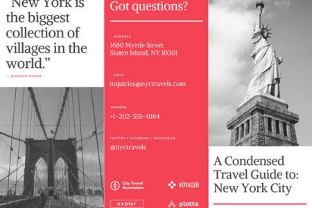 Customize 93  Travel Brochure templates online   Canva New York Travel Brochure