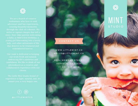 Little Mint Studio Brochure Templates By Canva