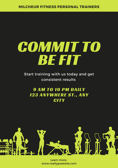 Customize 85 Gym Poster Templates Online Canva