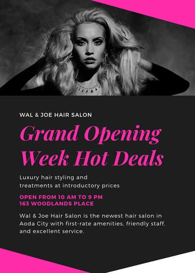 Customize 48 Hair Salon Flyer Templates Online Canva