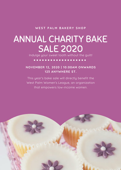 Customize 314 Bake Sale Flyer Templates Online Canva
