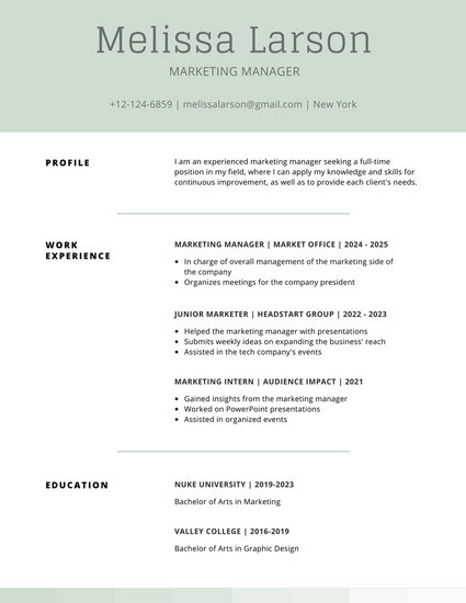 Resume Samples - See Resume Examples At CVTips com.