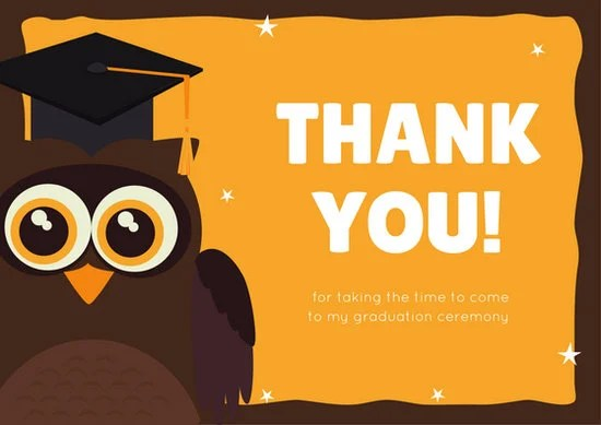Customize 39 Graduation Thank You Card Templates Online