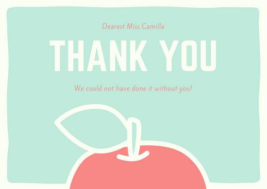 Customize 58 Teacher Thank You Card Templates Online Canva