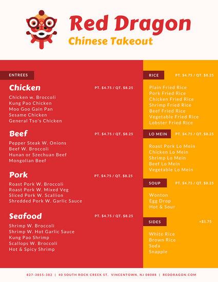 Types Food Menus Restaurants