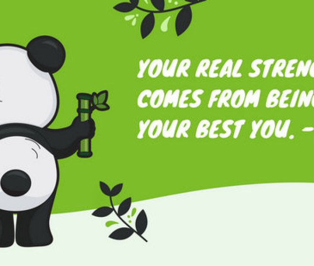 Green Panda Illustration Cute Desktop Wallpaper