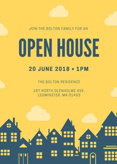 free printable open house invitations