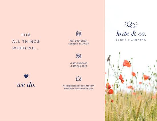 Wedding Brochure Templates  free tri fold brochure template
