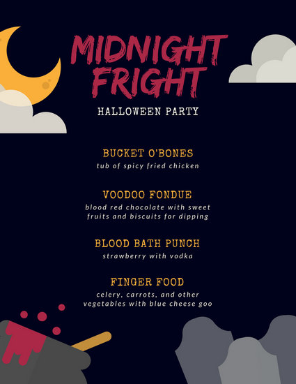 Customize 38 Halloween Menu Templates Online Canva