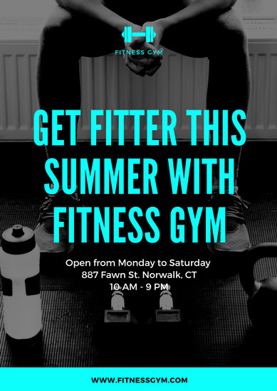 Customize 154 Gym Poster Templates Online Canva