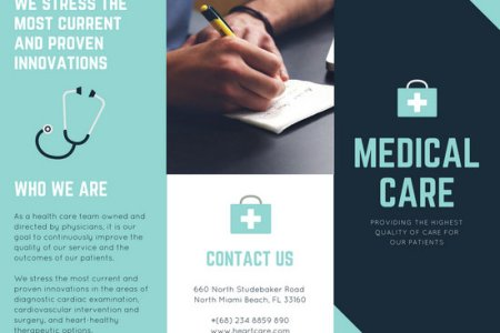 Shades of Blue Medical Trifold Brochure   Templates by Canva Shades of Blue Medical Trifold Brochure