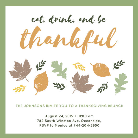Customize 108 Thanksgiving Invitation Templates Online