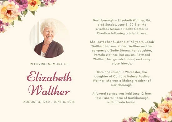 Customize 52 Obituary Card Templates Online Canva