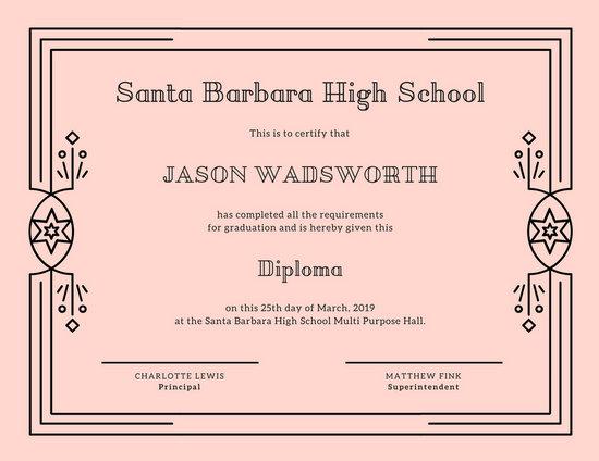 blank copy ged certificate