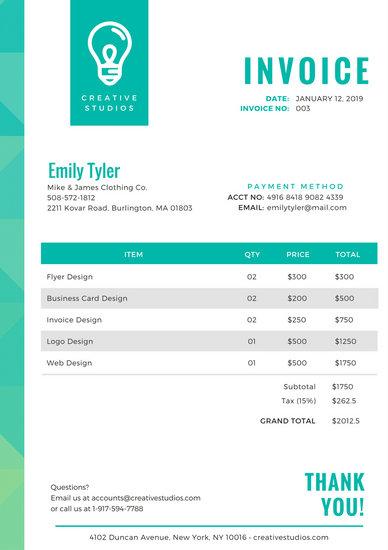 Customize 203 Invoice Templates Online Canva