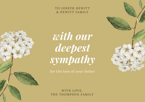 Customize 134 Sympathy Card Templates Online Canva