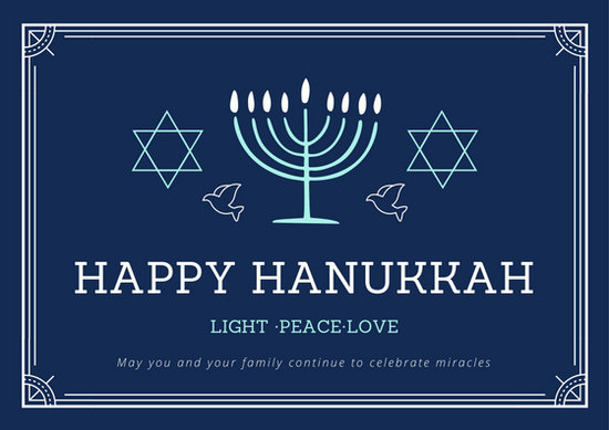 Customize 48 Hanukkah Card Templates Online Canva